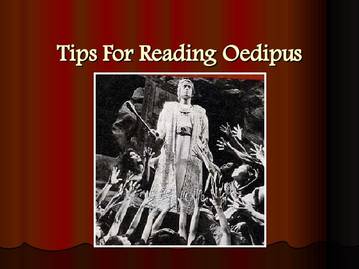 Tips For Reading Oedipus