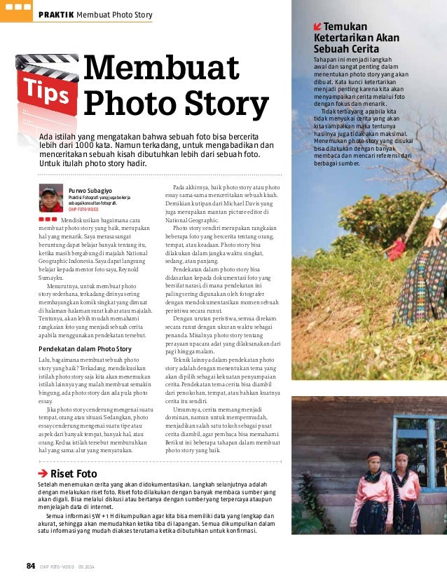 84 CHIP Foto-Video 09.2014 PRAKTIK Membuat Photo Story  Membuat  Photo Story  Mendiskusikan bagaimana cara  membuat photo ...