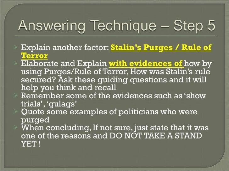 stalin essay questions