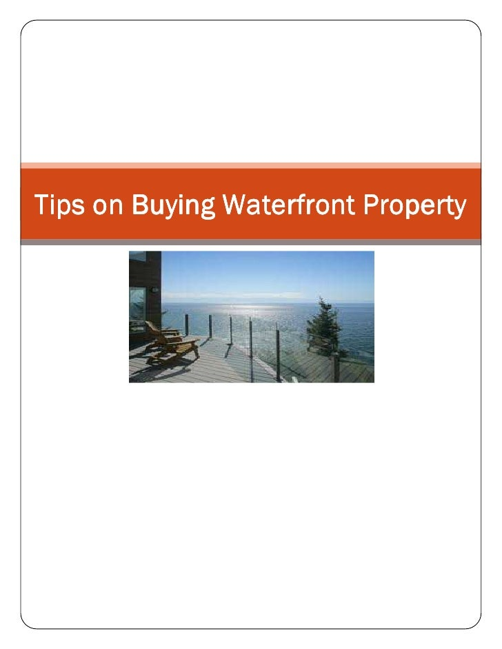 Tips on Buying Waterfront Property