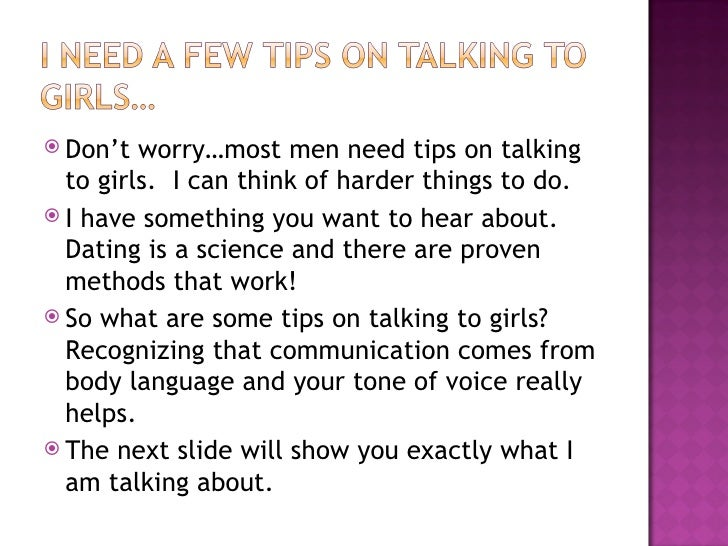 Tips For Talking To A Girl