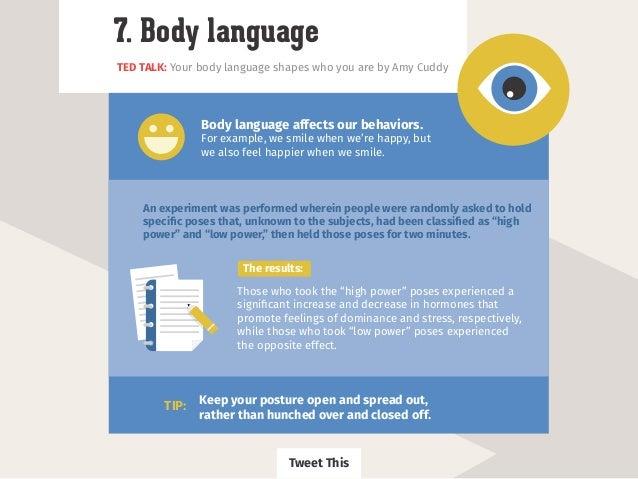 Your body speaking his language