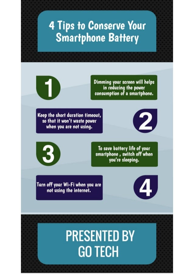 Tips to Conserve your Smartphone Battery
