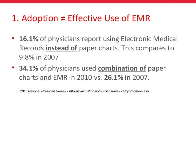 paper charts vs electronic medical records Both champion and nonchampion physicians had to work with their staffs to  summarize and enter patient data from existing paper charts into the emr.