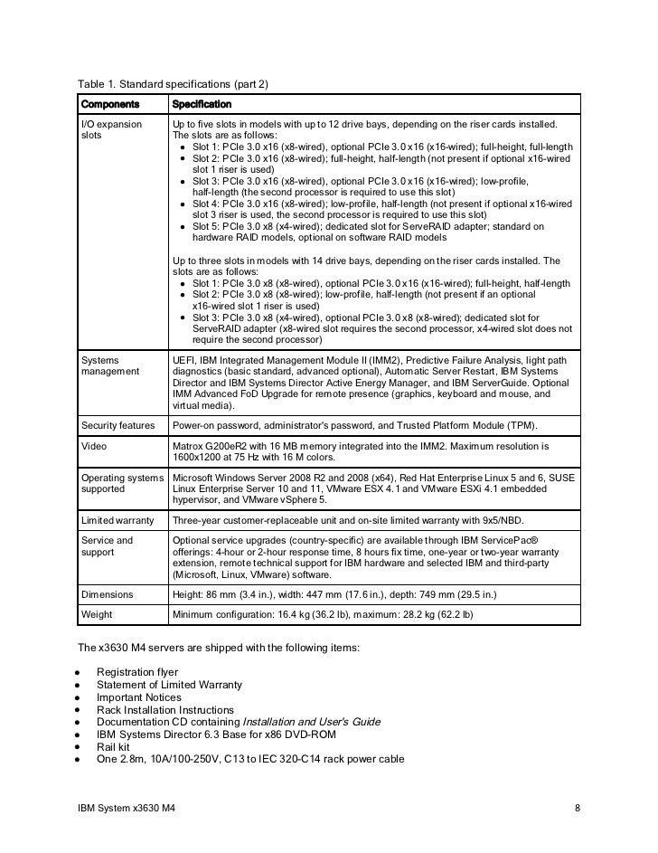 ibm redbooks product guide ibm system x3630 m4 rh slideshare net