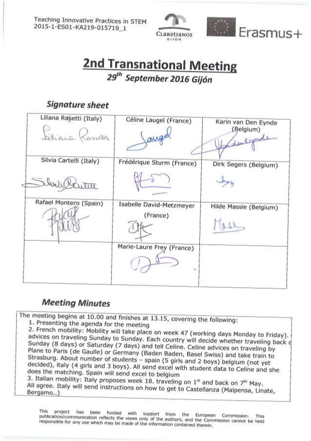 tips 2nd transnational meeting minutes