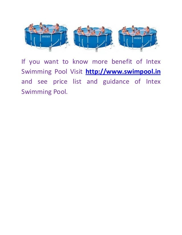 Tips And Benefit Of Intex Swimming Pool