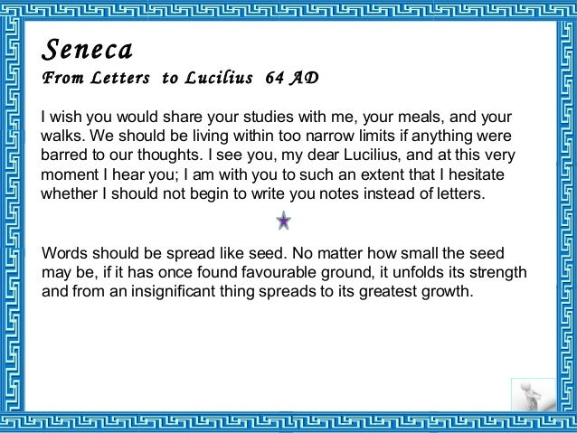 seneca from letters