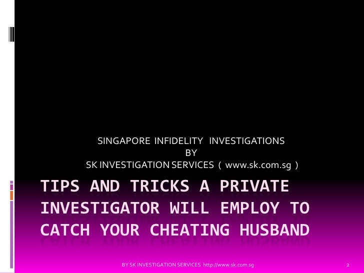 how to catch your husband cheating with prostitutes
