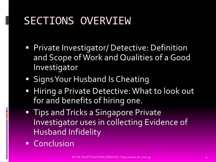 cheating husband investigation