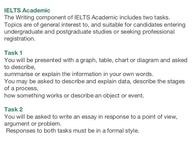 IELTS Academic Task 1— Table