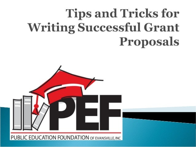 Grant proposal writing tips