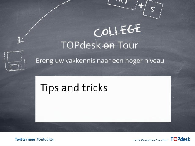 Twitter mee #ontour14 Tips and tricks