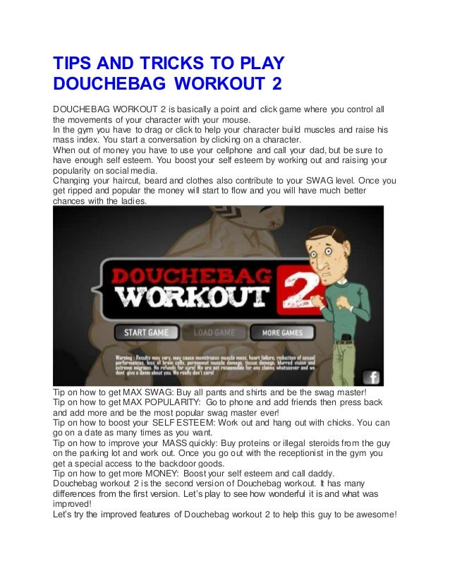 Tips And Tricks To Play Douchebag Workout