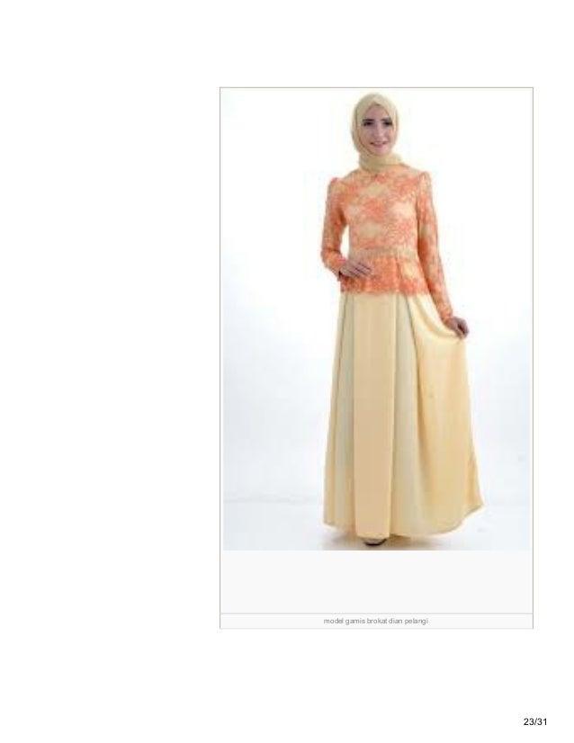 Tipsbajumuslimah Blogspot Com 46 Model Baju Pesta Muslim Brokat Sifon
