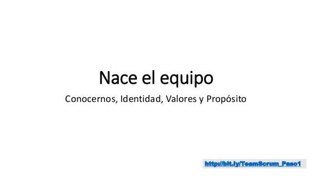 Nace el equipo Conocernos, Identidad, Valores y Propósito http://bit.ly/TeamScrum_Paso1