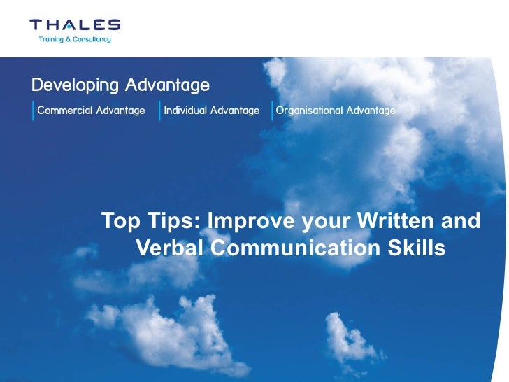 Top Tips: Improve your Written and Verbal Communication Skills
