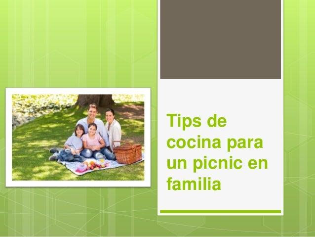 Tips de cocina para un picnic en familia for Canal cocina cocina de familia