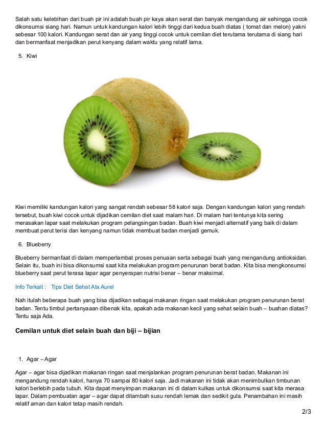 5 Cemilan Alternatif Enak dan Sehat Untuk Diet Sukses
