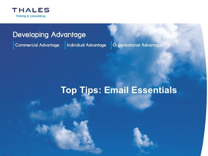 Top Tips: Email Essentials