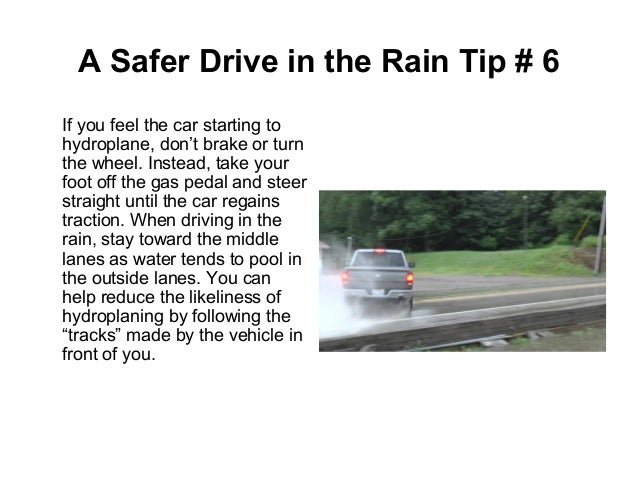 Tips for a safer drive in the rain june 2015