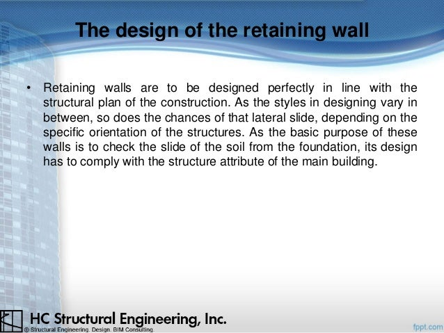 4. The Design Of The Retaining Wall ...