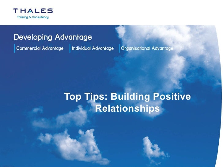 Top Tips: Building Positive Relationships