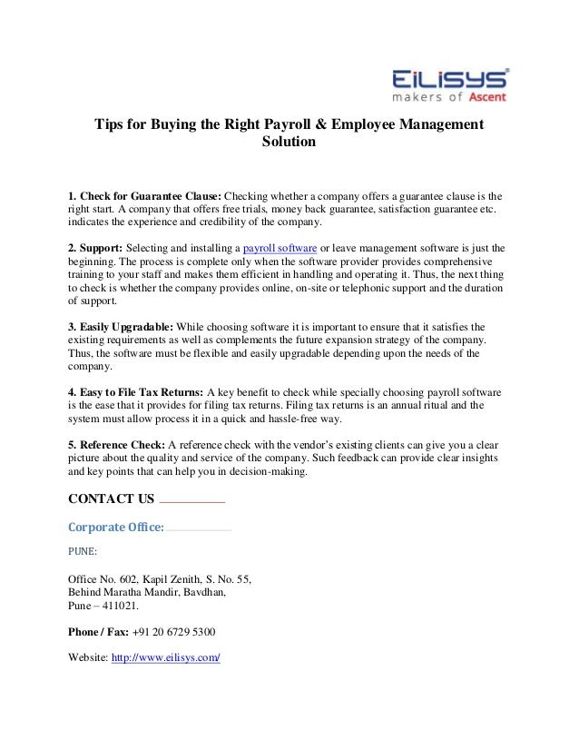Tips for Buying the Right Payroll & Employee Management Solution