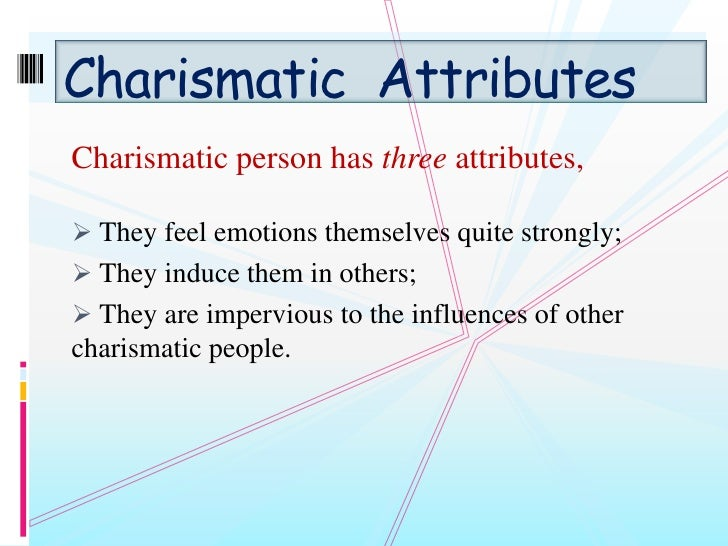 What does charismatic mean?