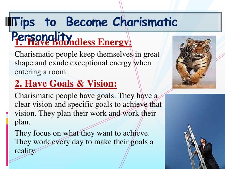 how to develop a charismatic personality