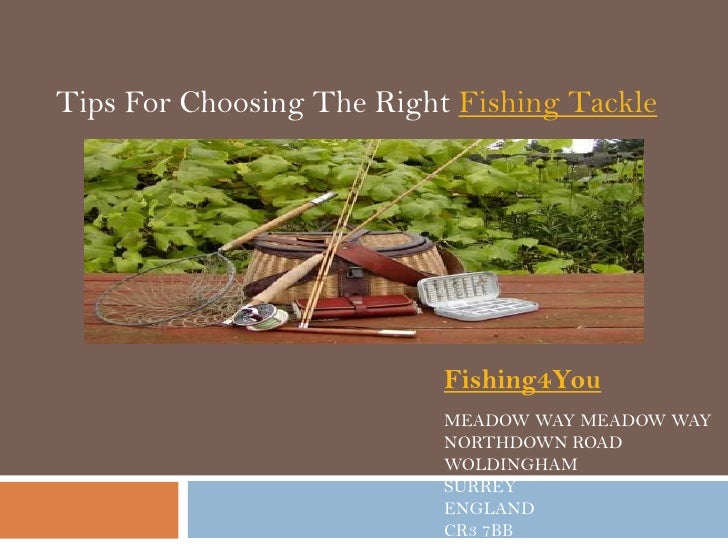 Tips For Choosing The Right Fishing Tackle                           Fishing4You                           MEADOW WAY MEAD...