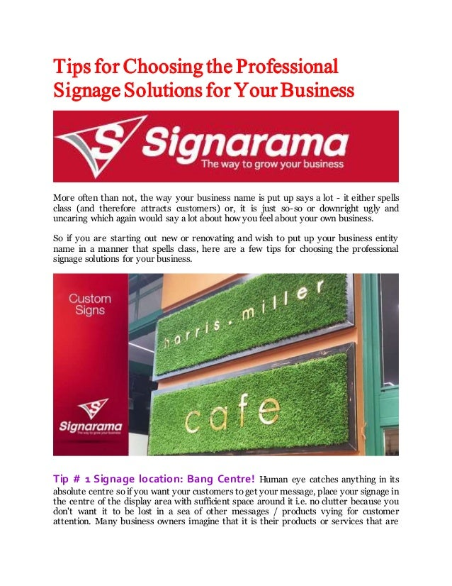 Tips for Choosing the Professional Signage Solutions for Your Business More often than not, the way your business name is ...