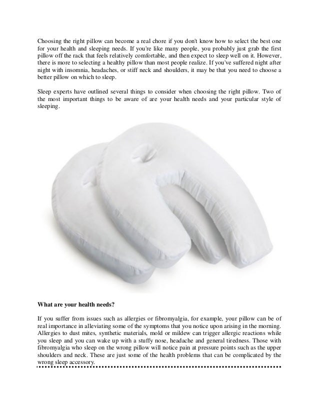 Tips for choosing the right pillow for