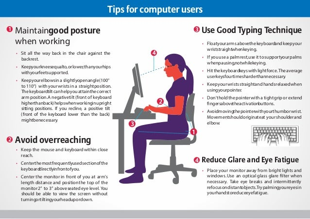Tips for Computer Users to Avoid Back and Vision Problems