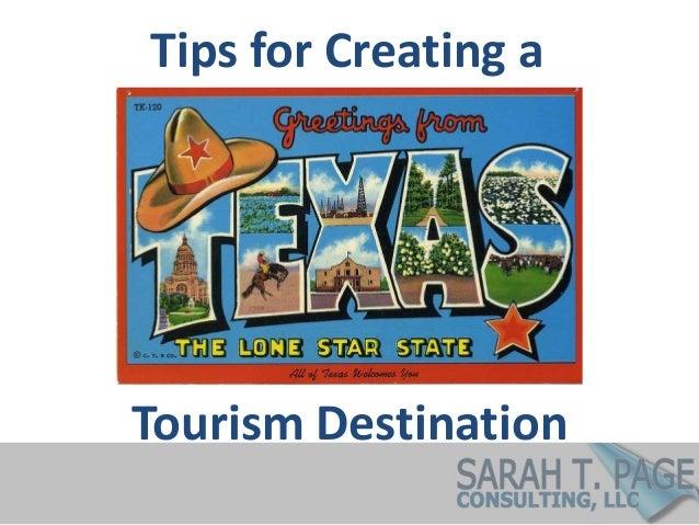 Tourism Destination Tips for Creating a