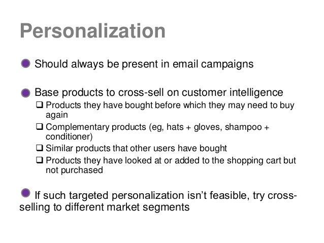 Tips for Cross-Selling via Email Slide 3