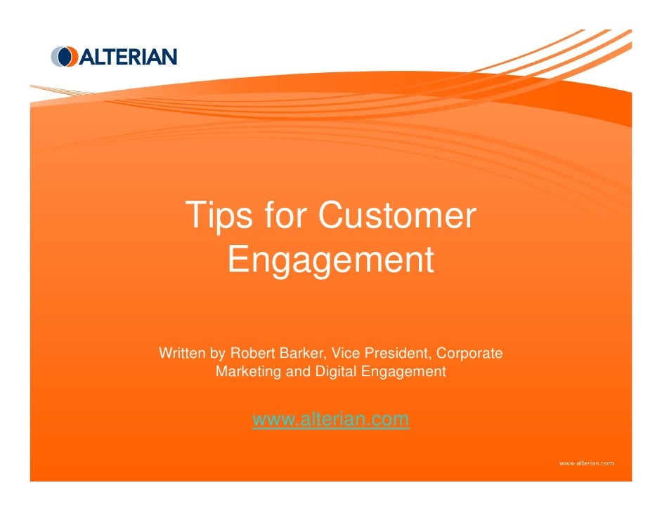Tips For Customer Engagement