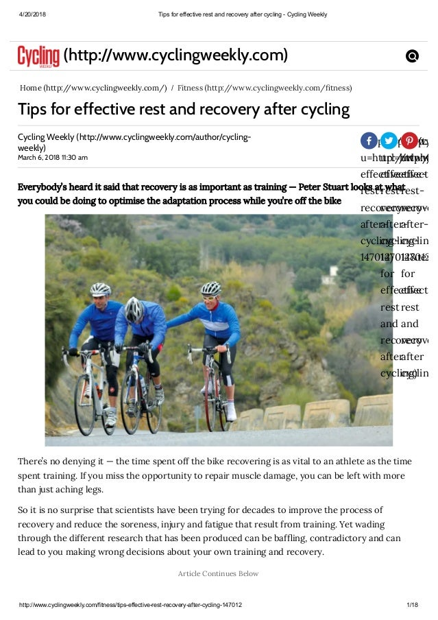 16fb3e337 Tips for effective rest and recovery after cycling cycling weekly