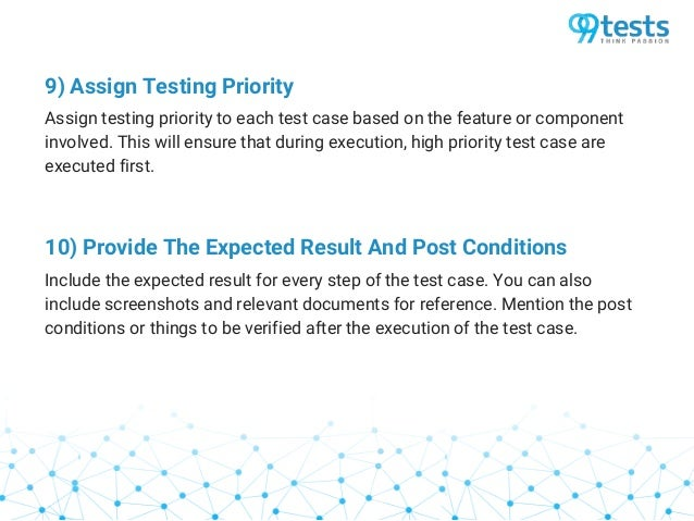 Tips for effective test case writing
