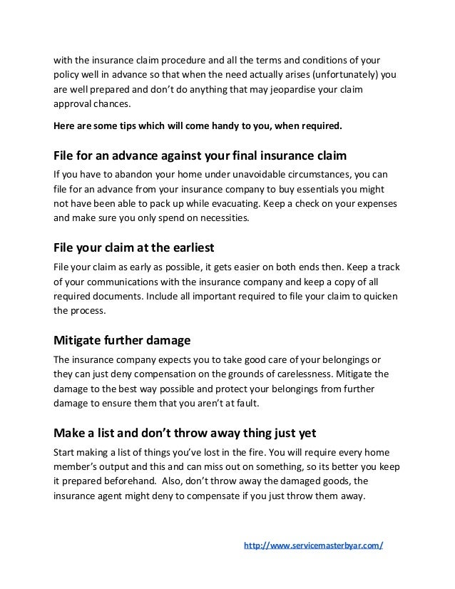 Tips For Filing Insurance Claim After a House Fire Slide 2