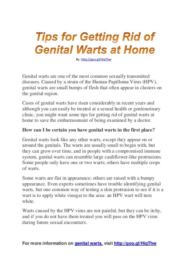 Tips for getting rid of genital warts at home