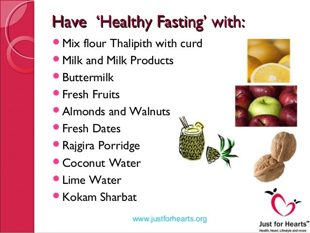 Tips for Healthy Fasting