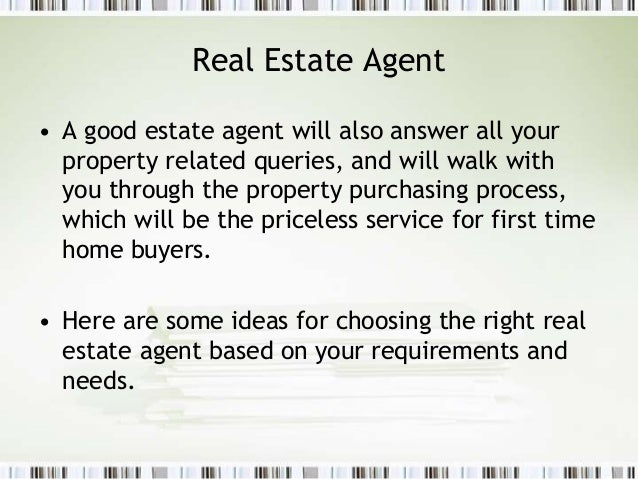 tips for hiring a good real estate agent