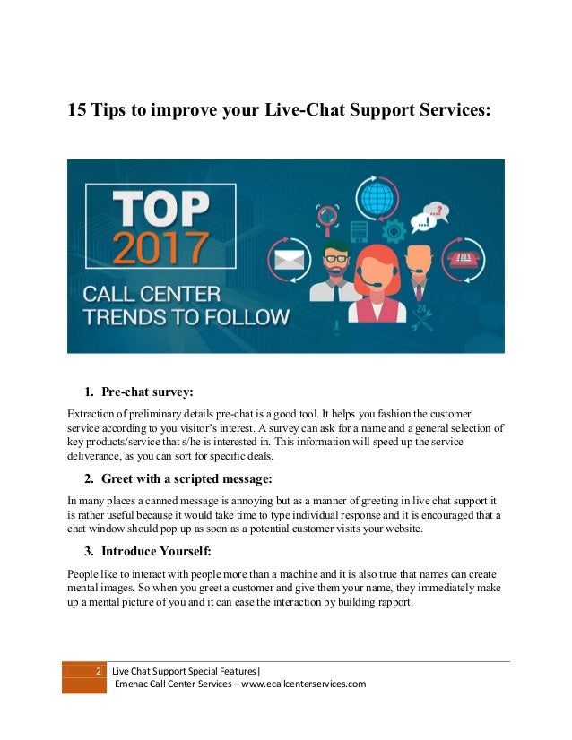 ... live chat support services, not let's get to HOW part: 2.