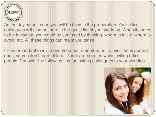 Tips for Inviting Colleagues to Your Wedding