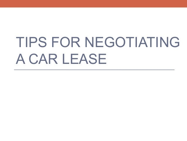 Negotiating Car Lease Purchase