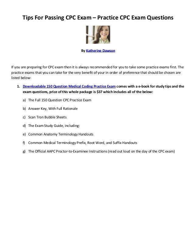 Tips For Passing Cpc Exam Practice Cpc Exam Questions
