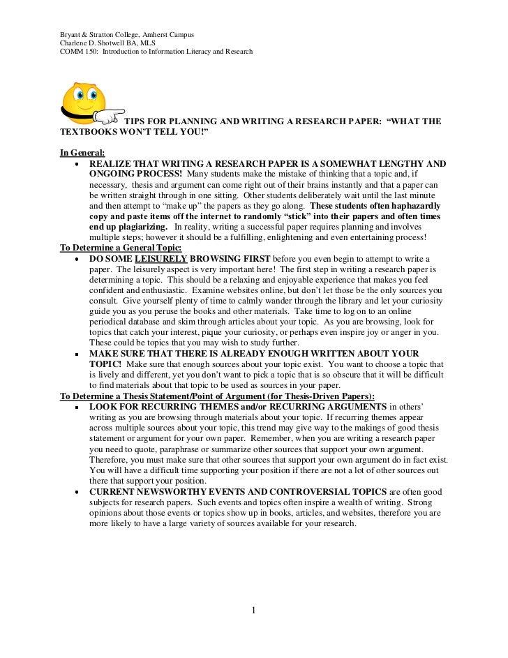 Tipsforplanningandwritingaresearchpaper