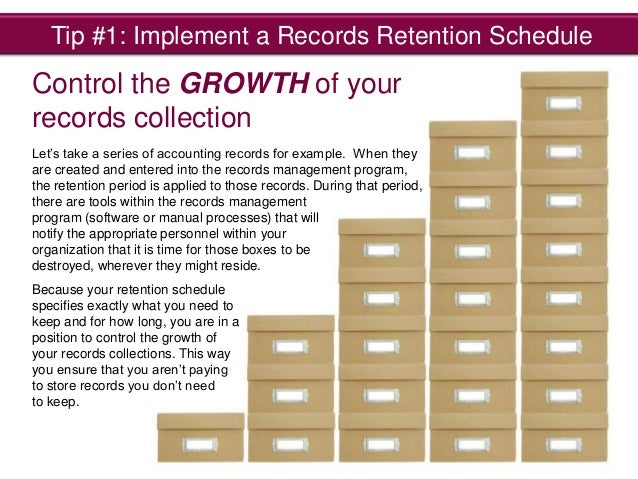 Tips for reducing your offsite storage costs for Retention schedule template