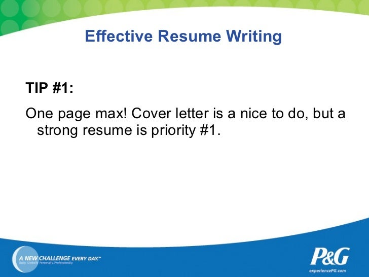 4 effective resume writing